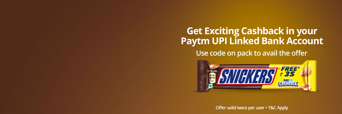 Snickers Paytm Offer